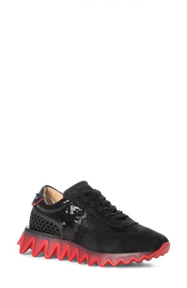 Men's Christian Louboutin Loubishark Chunky Sneaker, Size 13US - Black