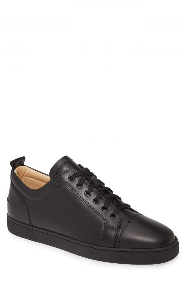 Men's Christian Louboutin Louis Junior Low Top Sneaker, Size 11.5US - Black