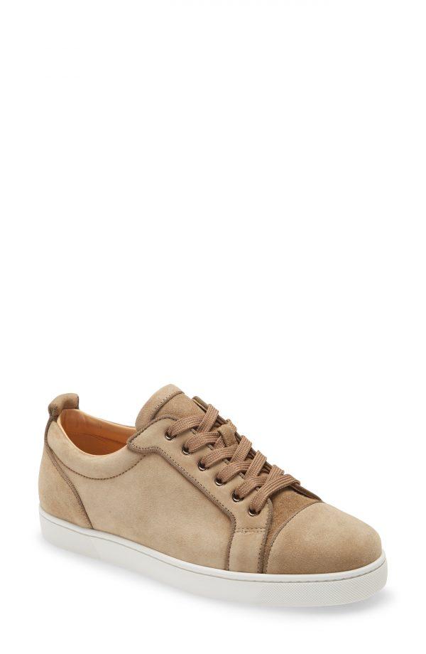 Men's Christian Louboutin Louis Junior Orlato Sneaker, Size 14US - Beige