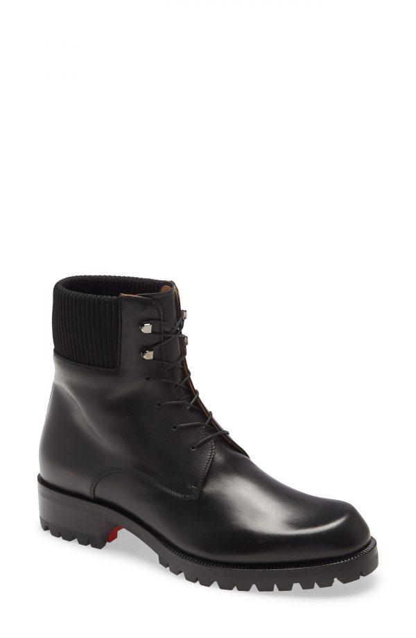 Men's Christian Louboutin Trapman Hiking Boot, Size 39 EU - Black