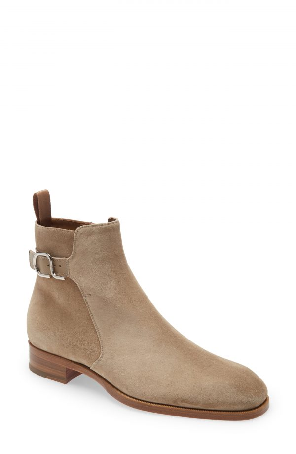 Men's Christian Louboutin Valido Ankle Boot, Size 7US - Beige