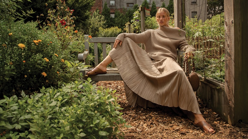 Rebecca Leigh Longendyke stars in Michael Kors spring-summer 2021 campaign.
