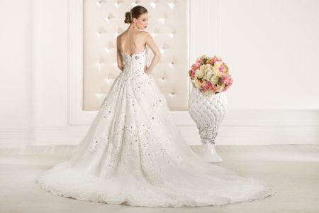Model Embellished Ballgown Wedding Dress Back
