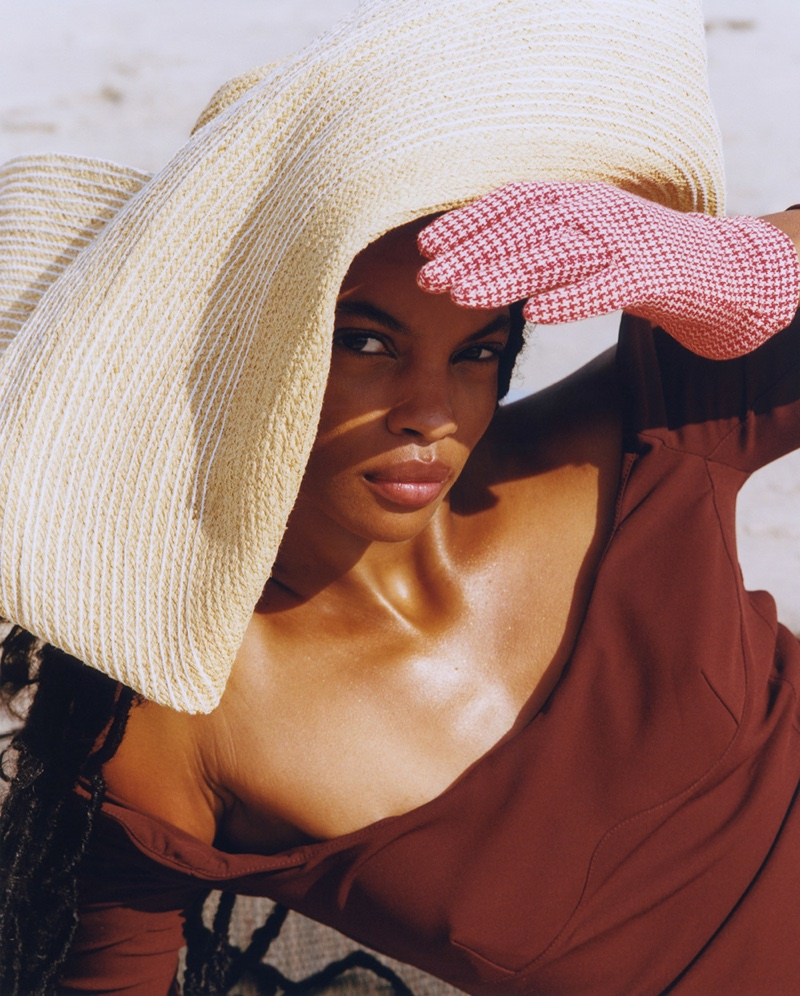 Najiyah Imani Hits the Beach for ELLE Mexico