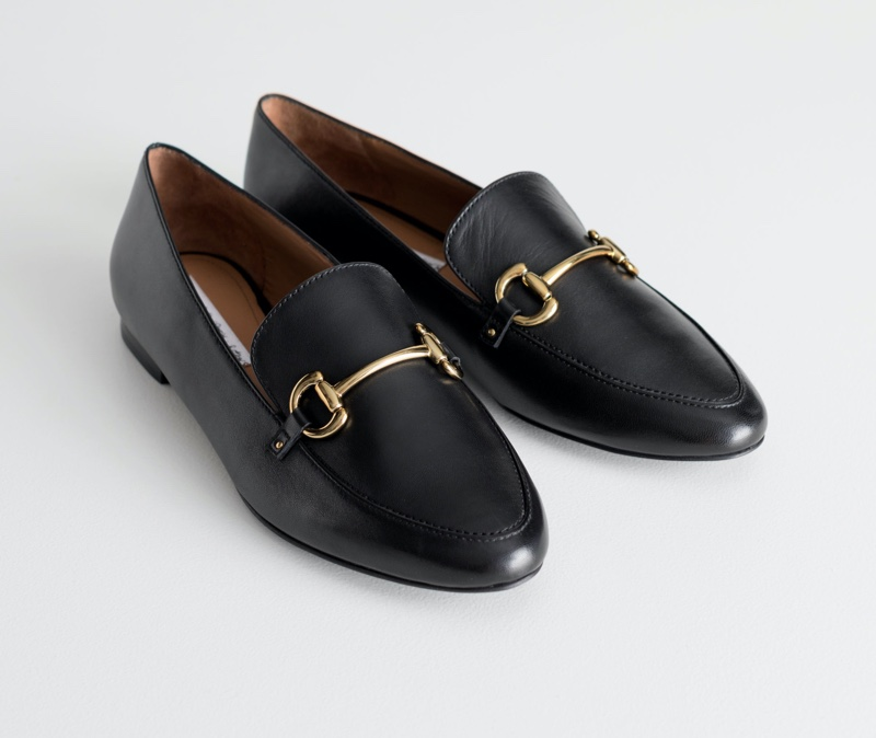 & Other Stories Equestrian Buckle Loafers $129