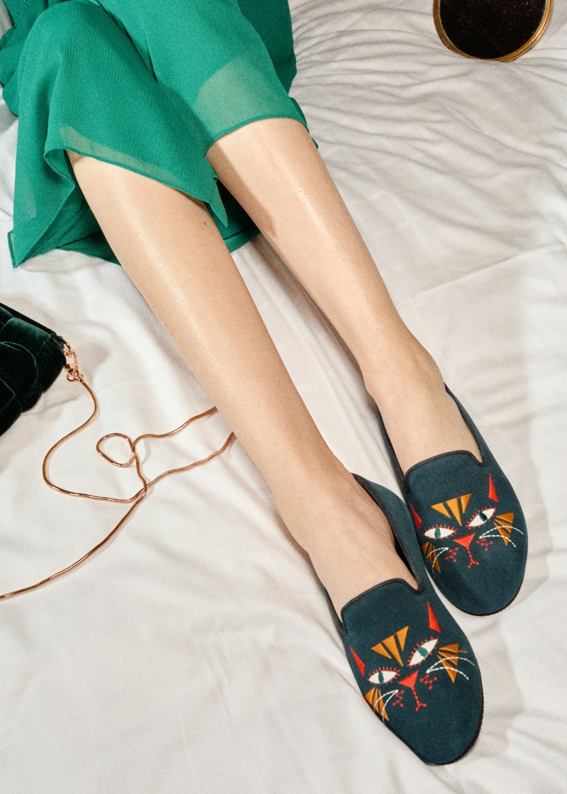 & Other Stories x Hums Cat Motif Loafer Slippers $69