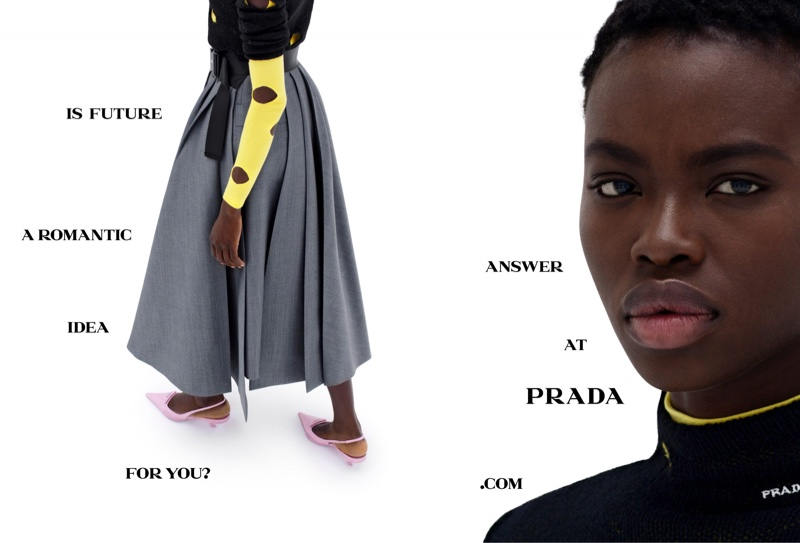 Dija Kallon fronts Prada spring-summer 2021 campaign.