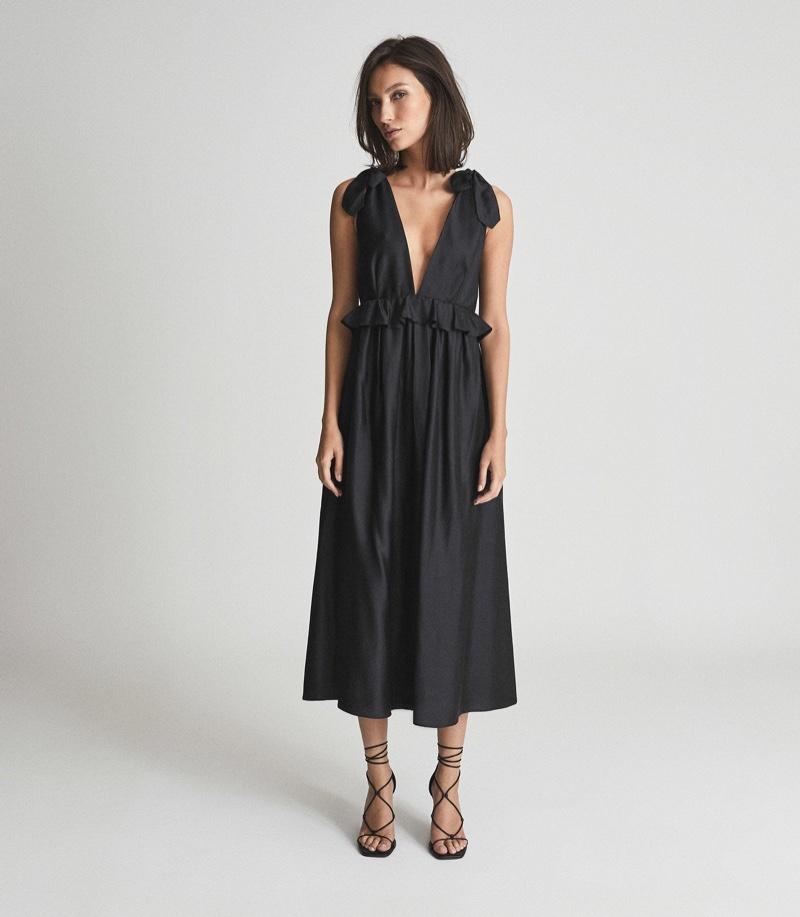 Reiss Laura Silk Blend Midi Dress $525