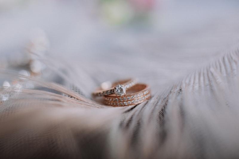 Rose Gold Ring Wedding Set Vintage Filter