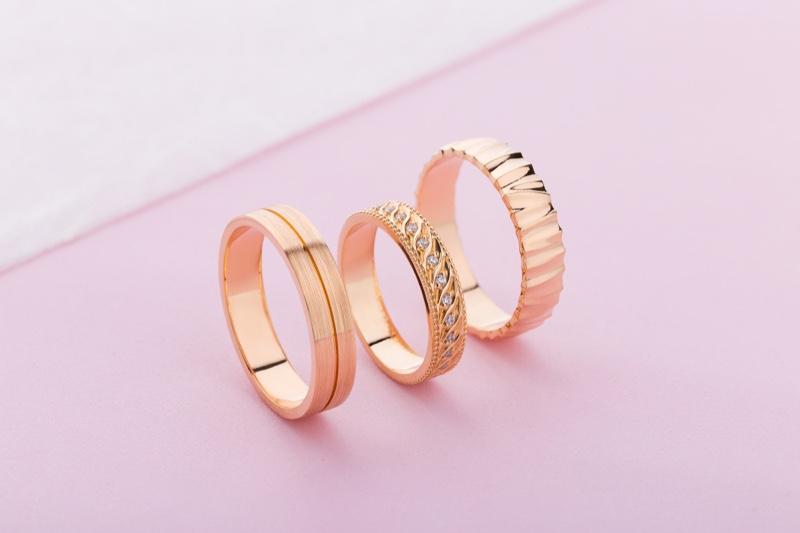 Rose Gold Wedding Set Concept Pink Backdrop