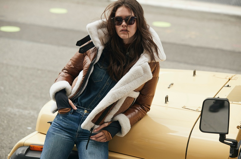 Vanessa Moody Wears Cool Girl Jackets in SAM Campaign