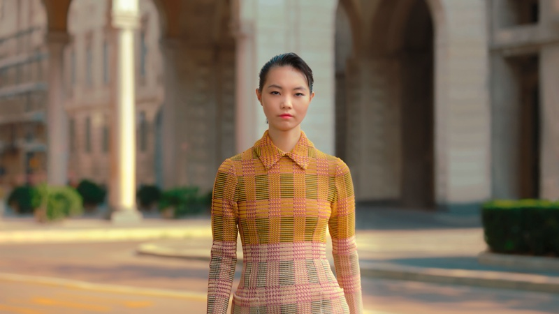 Maggie Cheng appears in Salvatore Ferragamo spring-summer 2021 campaign.