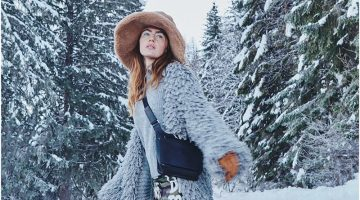 Sanda Gutic Wears Snow Day Style for Woman Austria