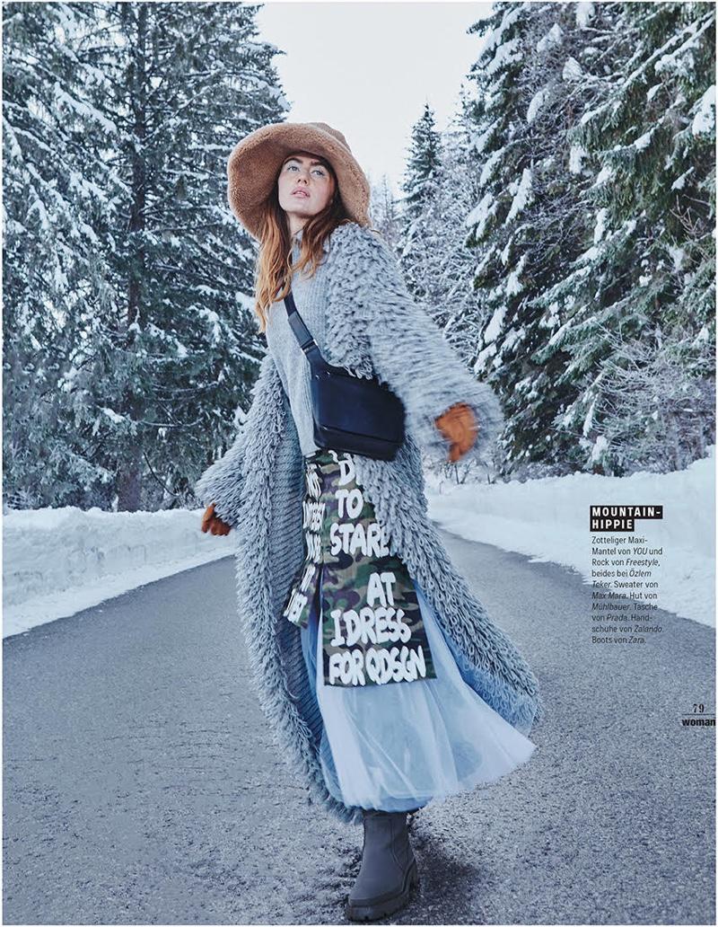 Sanda Gutic Wears Snow Day Style for Woman Austria