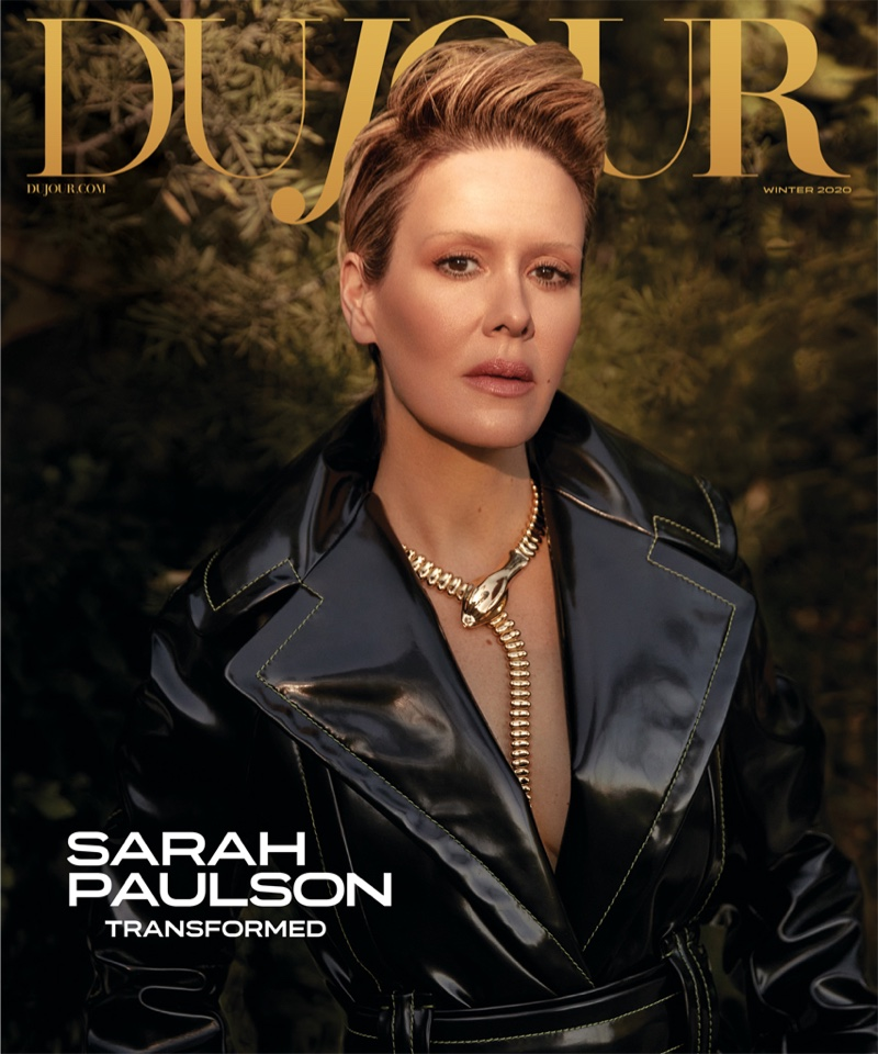 Sarah Paulson on DuJour Magazine Winter 2020 Cover. Photo: Max Abadian