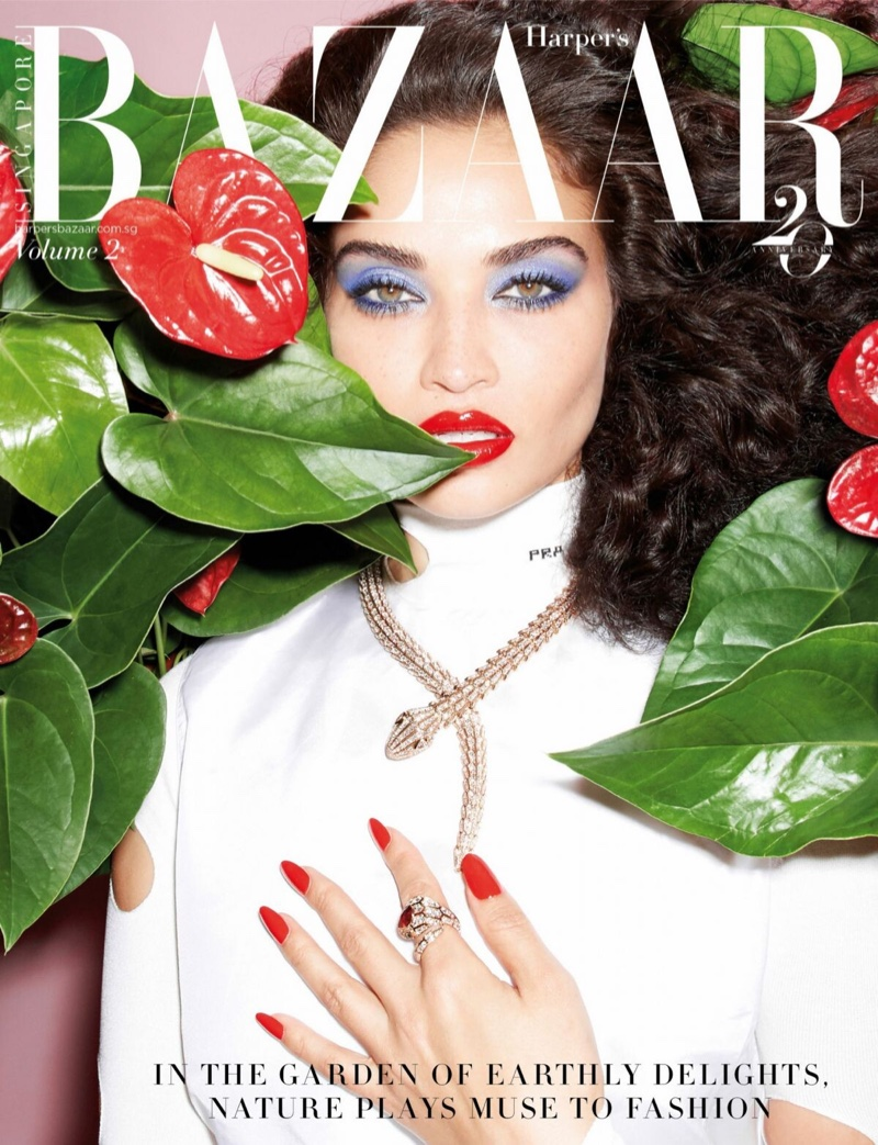 Shanina Shaik Takes the Spotlight in Harper's Bazaar Singapore
