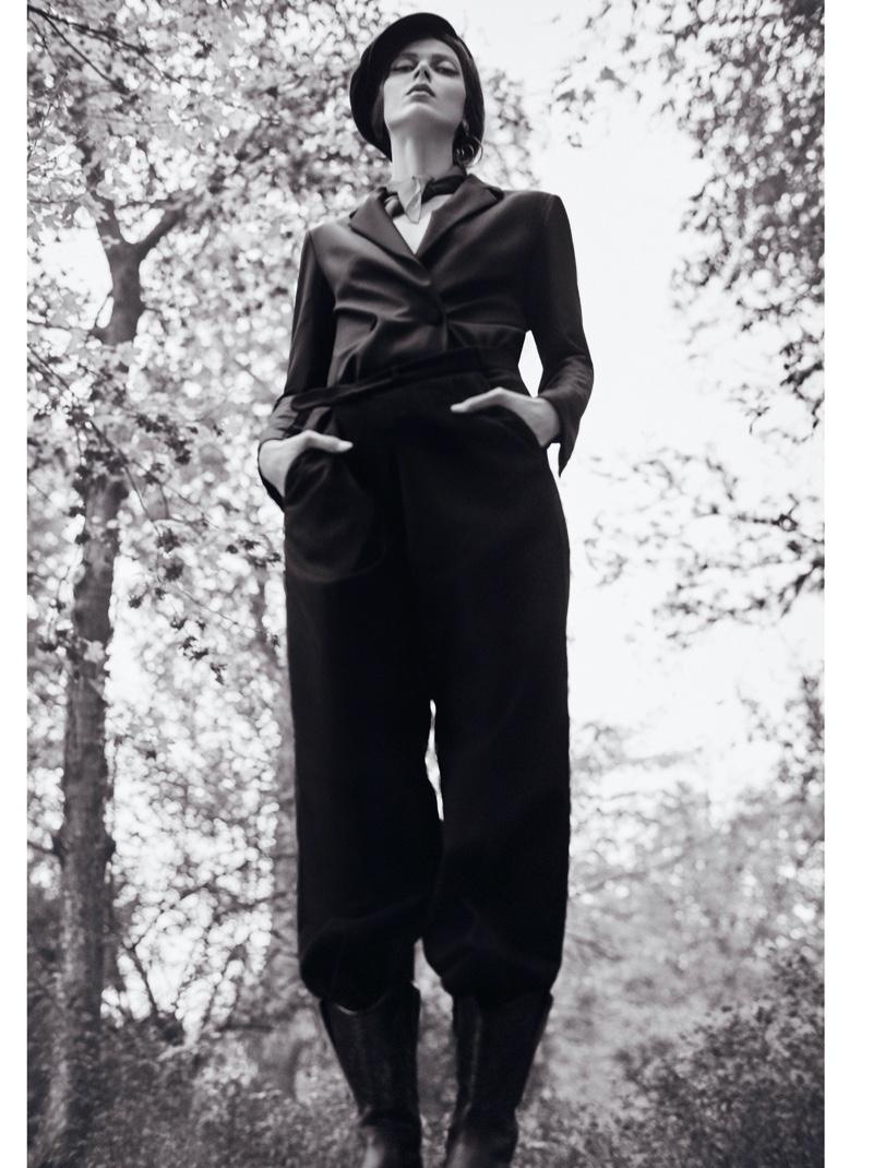 Sofia Bartos Wears Elegant Looks for Cosmopolitan Romania