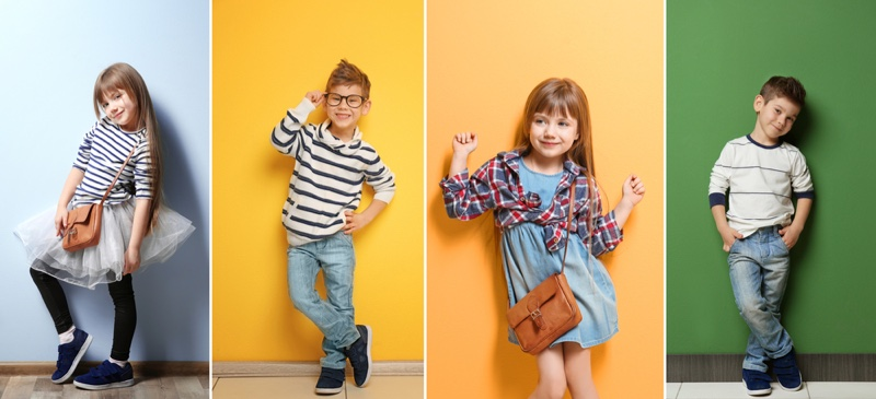 Stylish Kids Clothes Collage