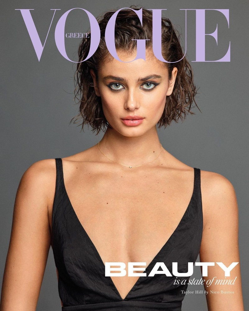 Taylor Hill on Vogue Greece January-February 2021 Cover