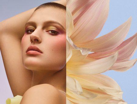 Celina Ralph stars in Three Cosmetics spring-summer 2021 campaign.