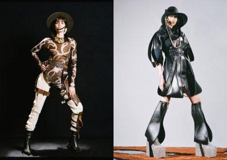 Valeria Gomez Channels Western Style for Vogue Czechoslovakia