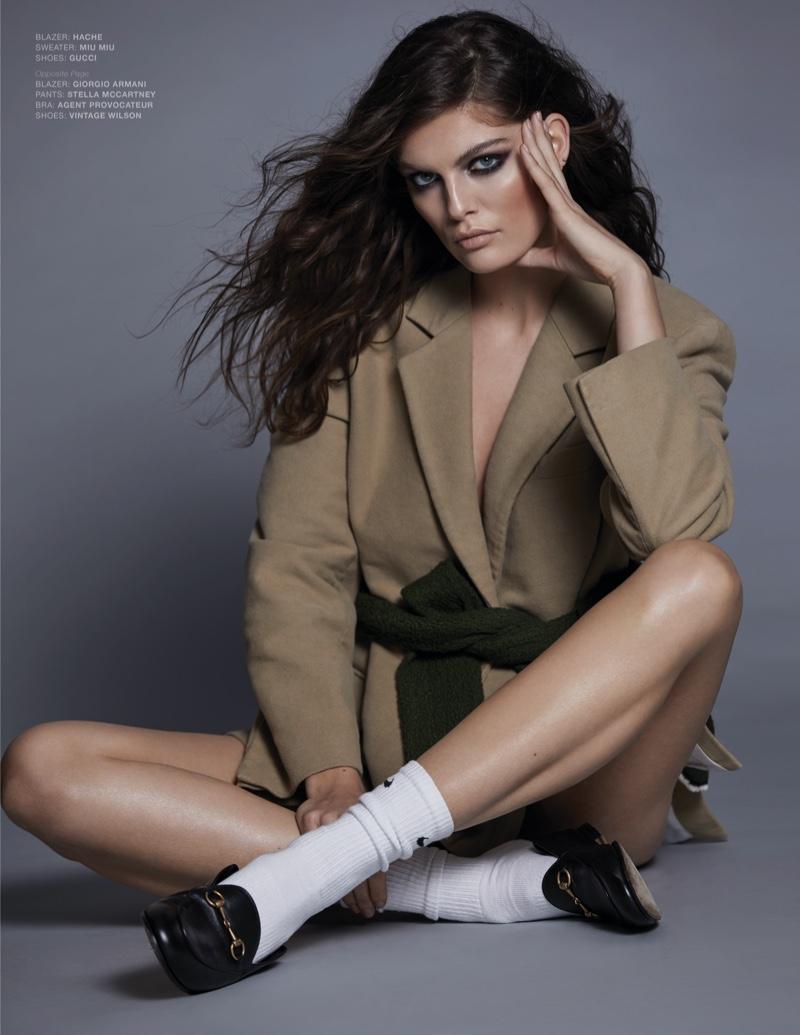 Vanessa Fuchs Models Chic Separates for L'Officiel Italy