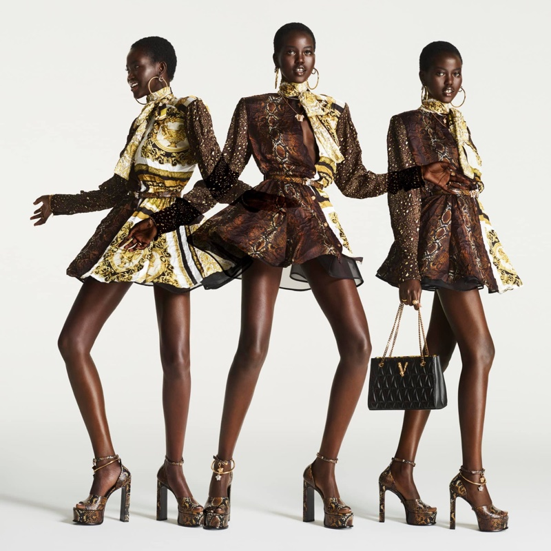 Adut Akech stars in Versace Flash 2021 campaign.