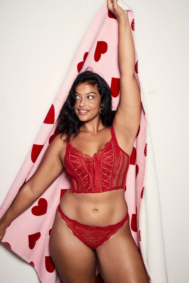 Devyn Garcia fronts Victoria's Secret Valentine's Day 2021 campaign.