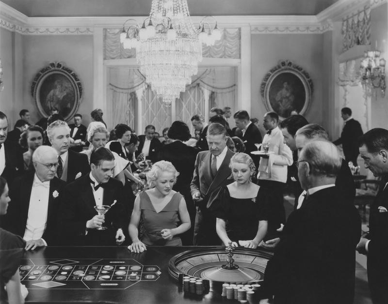 Vintage Casino Style Black White Men Women