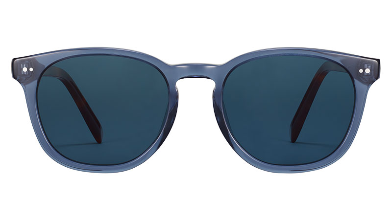 Warby Parker Toddy Sunglasses in Azure Crystal with Oak Barrel $95