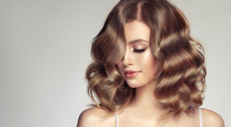 Wavy Lob Hairstyle Brown Natural Highlights