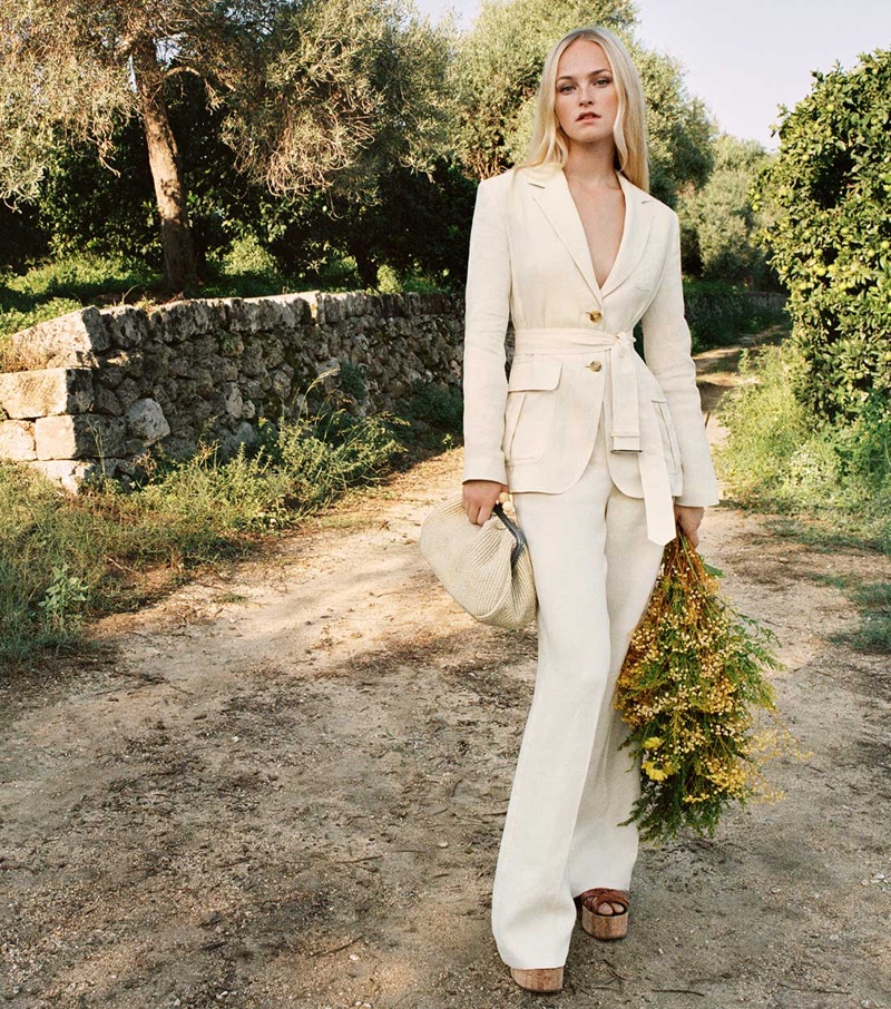 Suiting up, Jean Campbell fronts Weekend Max Mara spring-summer 2021 campaign.