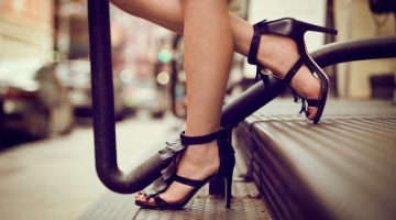 Woman fringed Sandal Heels Stairs Cropped
