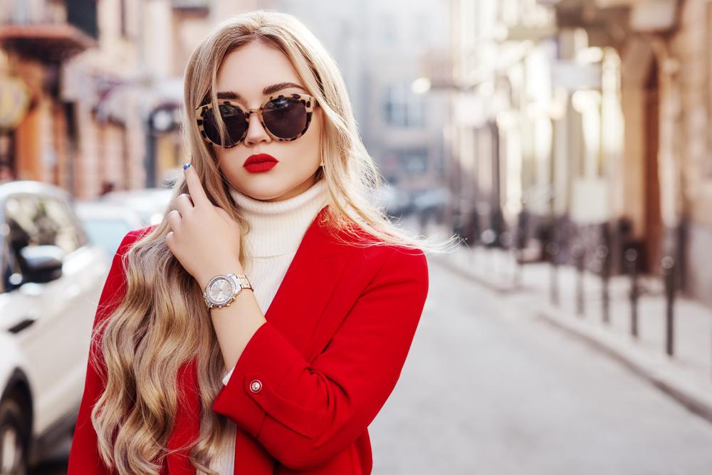 Woman in Stylish Watch