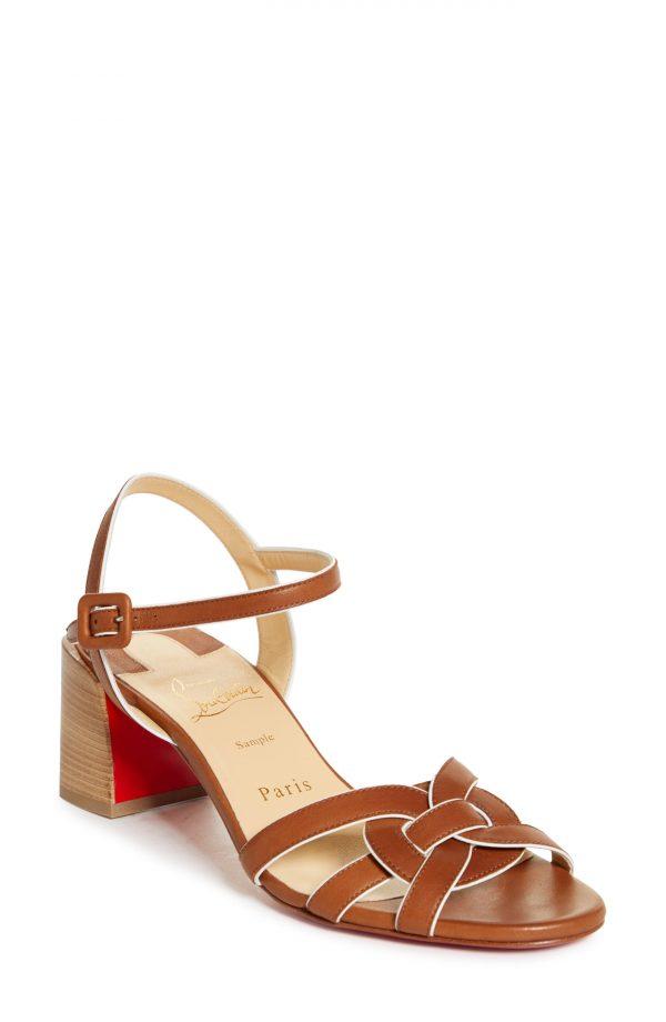 Women's Christian Louboutin Anjalili Sandal, Size 5US - Brown