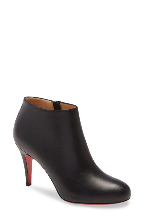 Women's Christian Louboutin Belle Bootie, Size 9.5US - Black