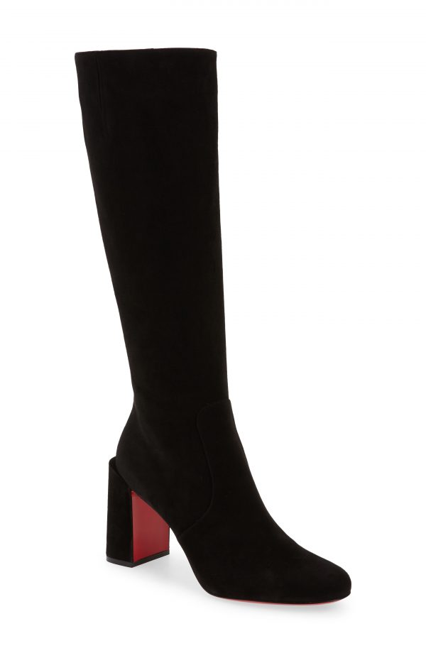 Women's Christian Louboutin Cavalika Knee High Boot, Size 4US - Black