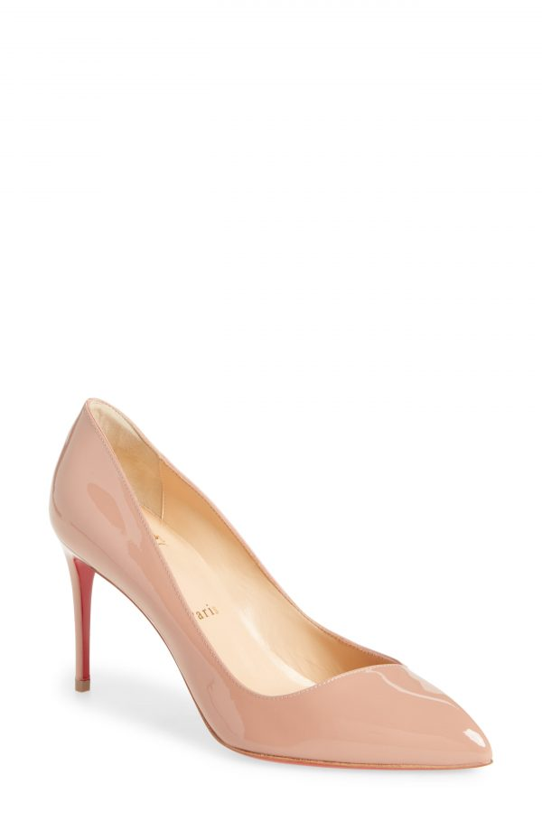 Women's Christian Louboutin Corneille Pointed Toe Pump, Size 4.5US - Beige