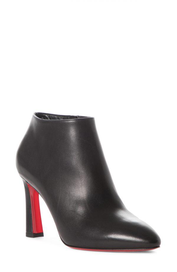 Women's Christian Louboutin Eleonor Bootie, Size 9.5US - Black
