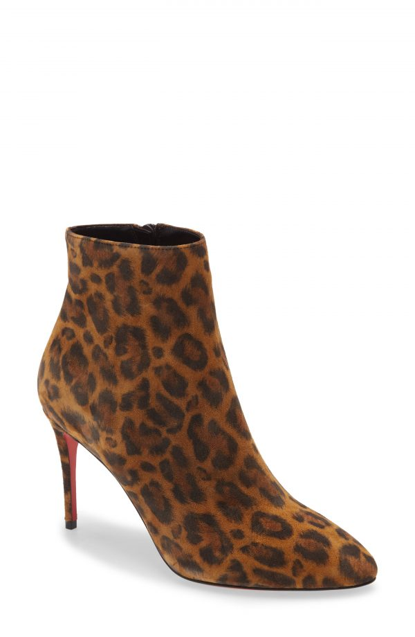 Women's Christian Louboutin Eloise Pointed Toe Bootie, Size 6US - Black
