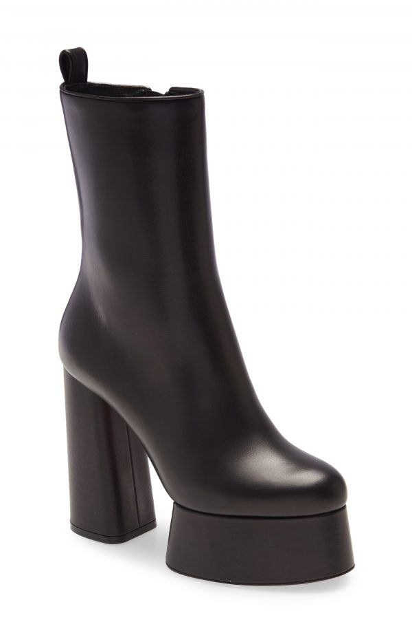 Women's Christian Louboutin Izamayeah Platform Bootie, Size 7US - Black