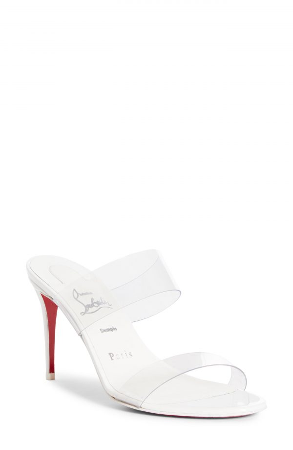 Women's Christian Louboutin Just Nothing Slide Sandal, Size 5.5US - White