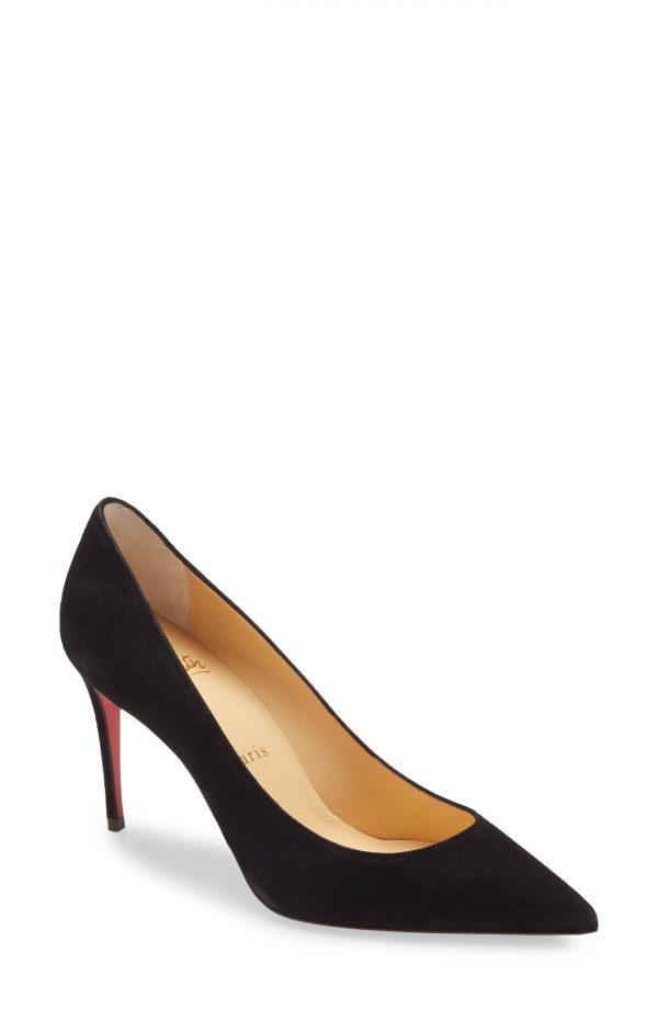 Women's Christian Louboutin Kate Pointed Toe Pump, Size 5.5US - Black
