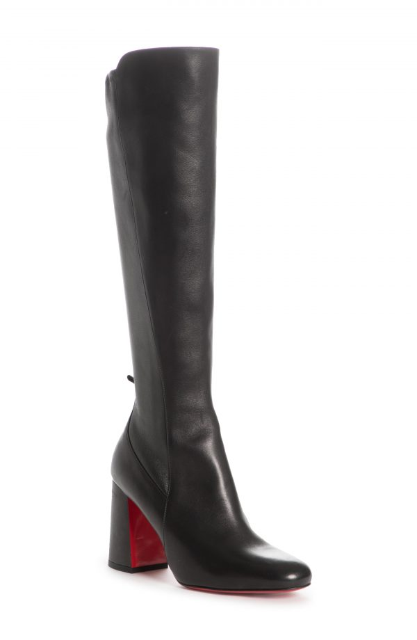 Women's Christian Louboutin Kronobotte Stretch Knee High Boot, Size 4.5US - Black