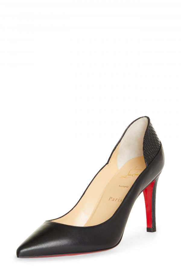 Women's Christian Louboutin Maastricht Pointed Toe Pump, Size 5US - Black