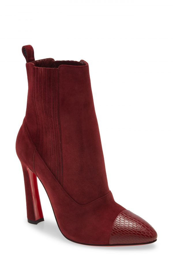 Women's Christian Louboutin Me In The '90S Pointy Toe Bootie, Size 4US - Brown
