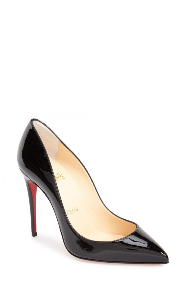 Women's Christian Louboutin Pigalle Follies Pointed Toe Pump, Size 5US - Black