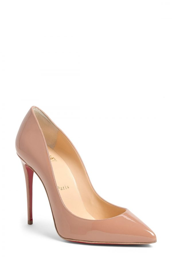 Women's Christian Louboutin Pigalle Follies Pointed Toe Pump, Size 8.5US - Beige