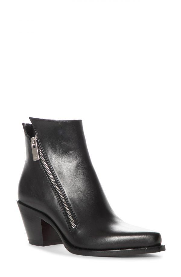 Women's Christian Louboutin Santia Zip Bootie, Size 5US - Black