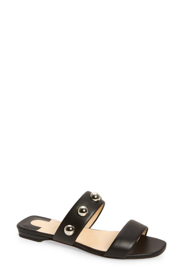 Women's Christian Louboutin Simple Bille Slide Sandal, Size 5US - Black
